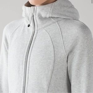Lululemon Scuba Hoodie Light Cotton Fleece Grey